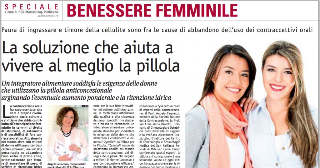 Zyxelle sul Corriere della Sera